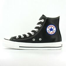 Converse All Star Chuck Taylor Leather Hi Top Canvas Mens Womens Size Black/Whit