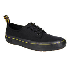 Dr Martens Black Jacy 4 Eye Lace Up Rubber Sole Heat Sealed Fabric Canvas Shoes