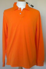 TOMMY HILFIGER ORANGE  LONG SLEEVED POLO TOP SIZE SMALL  BNWT