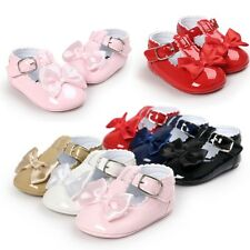 Newborn Baby Girl Bow Tie Crib Shoes Toddler Walking Wedding Shoes 0-18 Months