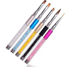 Nail Art UV Gel Acrylic Pen Pencil Crystal Brush Paint Drawing Polish Manicure