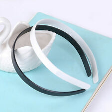 10pcs 12mm Blank Plain Plastic Headbands DIY Hair Band Accessory  NG