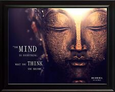 Buddha Photo Picture, Poster or Framed Inspirational Quote: Mind is Everything