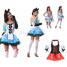 Adults Uniform Cosplay Costume Halloween Outfits Women French Maid Waiter Dress