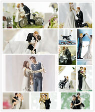 Wedding Cake Topper Bride And Groom Funny Figurine Decorations Vintage Decor