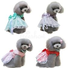 Cute Pet Puppy Small Dog Lace Skirt Princess Tutu Dress Clothes Apparel Costumes