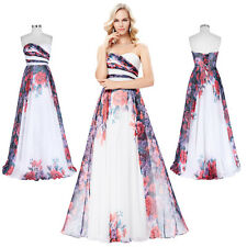 2017 New Long Strapless Sweetheart Chiffon Prom Dresses Ball Gown Party Evening