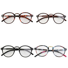 Retro Geek Vintage Nerd Large Frame Fashion Round Clear Lens Glasses CU