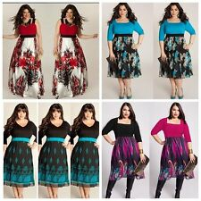 Oversized Women Summer Floral Evening Party Cocktail Long Formal Dress Plus Size