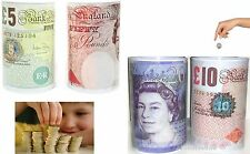 Box Tin £5 £10 £20 £50 Pound Note Design Kids/Child Money Saving Cash UK Seller