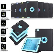 Shockproof Heavy Duty Hard Case Sleep Wake Stand Flip Smart Cover For All iPad