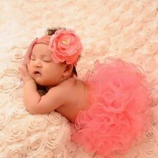 Newborn Baby Girl Xmas Gift Tutu Skirt Flower Headband Photo Prop Costume Outfit