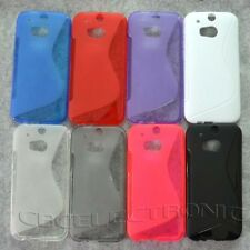 1x New Skidproof Rubber Gel skin case cover for HTC One 2 II M8