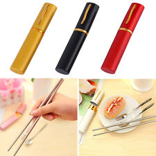 Camping Travel Outdoor Portable Stainless Steel Fork Spoon Chopsticks Set CZ