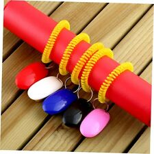 Dog Pet Click Clicker Training Obedience Agility Trainer Aid Wrist Strap A^^
