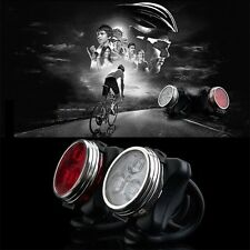Bicycle Bike 3 LED 4 Modes Head Front Rear Tail Light Lamp USB Rechargeable B^^