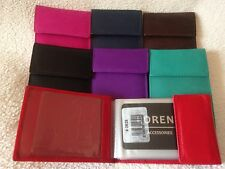 Cow Calf Leather 20 Leaf Credit Card Case / Holder. 7 Colours