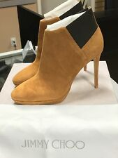 Jimmy Choo Talula 100 Brown Suede Ankle Boots Bootie Shoes NEW (Size 38)