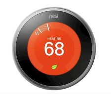 New Nest T3007ES Learning Programmable Touchscreen Wireless Thermostat Stainless