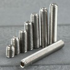50Pcs M3 4/6/8/10-20mm Stainless Steel Hex Socket Cup Points Grub Machine Screws