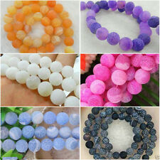 Wholesale !Frost Dream Fire Dragon Veins Agate Loose Beads Gems 14'' Multicolor