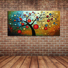 Unframed Lucky Money Tree Landscape Oil Painting On Canvas Handpainted Wall Art