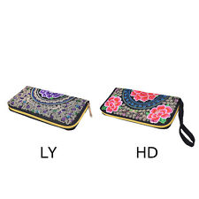 Women Lady Ethnic Handmade Embroidered Wristlet Clutch Bag Handbag Purse Wallet
