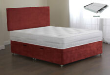 Sweet Dreams Amber Bed Base 4FT Small Double 4 Drw Sprung Edge Top Terracotta