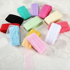 10 Yards Double Edge Embroidered Lace Trim Ribbon Craft Ribbon Wedding Sewing