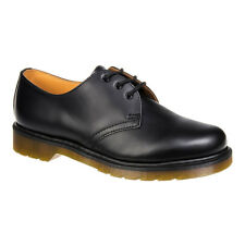 Dr Martens Mens Womens Unisex Black 1461 Classic Smooth Leather Lace Up Shoes