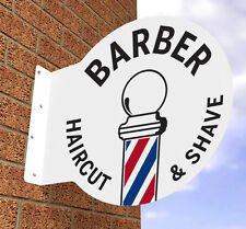 BARBERS POLE SIGN  BARBER SHOP SIGN  HAIRDRESSERS SIGN PROJECTING HANGING SIGN