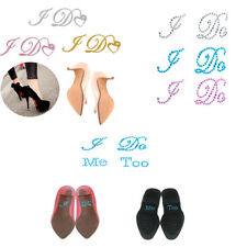 Wedding I Do Me Too Rhinestone Bride Groom Shoes Sticker Diamante Decal