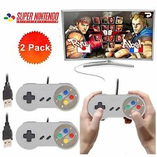 2X Retro Super Nintendo SNES USB Controller for PC/MAC Controllers SEALED New ST