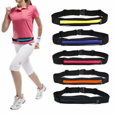 Unisex Jogging Cycling Waist Belt Bag Pouch Double-Pockets Running Waist Pack