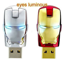 New USB 2.0 Flash Memory Stick Iron man 4GB 8GB 16GB 32GB Pen Drive U Disk