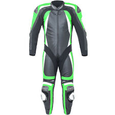 RST Motorbike Motorcycle Track 1 Piece Pro Series CPXC-2 Leather Suit - Green
