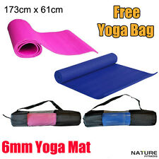 Nature Fitness 6mm Pvc Yoga Mat + Free Carry Bag