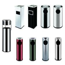 STAND ASHTRAY OUTDOOR STAINLESS STEEL FLOOR ASHTRAY WASTE DISPOSAL RUBBISH BIN