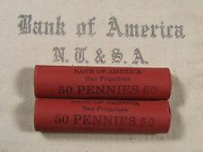 ONE UNSEARCHED - Lincoln Wheat Penny Roll 50 Pennies - 1909 1958 P D S (59)