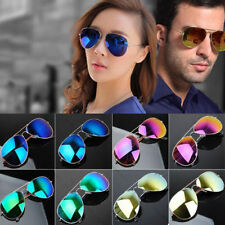 Unisex Women Men Vintage Retro Fashion Mirror Lens Sunglasses Glasses QW