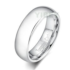 Tungsten Carbide Bridal Ring Polished Silver Dome Engagement Men's Wedding Band
