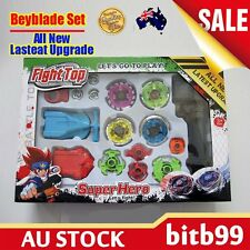 New 4D Fusion Top Metal Master Rapidity Fight Rare Beyblade Launcher Grip Set CU