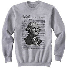 GEORGE WASHINGTON - NEW COTTON GREY SWEATSHIRT- ALL SIZES IN STOCK
