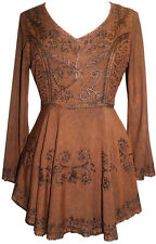 02 B Agan Traders Medieval Embroidered Flare Tunic Top Blouse
