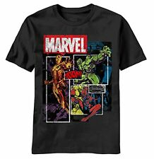 Mad Engine Marvel Comics Squared Up Mens T-Shirt