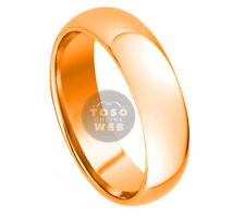 Men's 8mm Dome High Polish Rose Gold IP Tungsten Ring TS3320