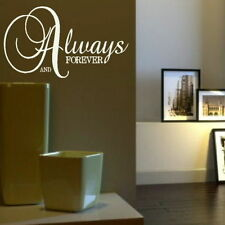 Always & Forever - Romantic Wall Quote Large Decor Love Quote Transfer niq23