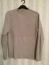 Chunky Ribbed Funnel Neck Jumper Size M by Next
