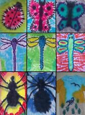 KIDS Handmade Tie Dye shirt INSECTS- LADYBUG BUTTERFLY DRAGONFLY SPIDER SCORPION