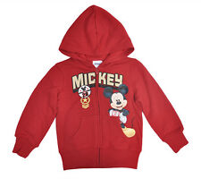 Mickey Mouse Toddler Boys Zipup Hoodie Jacket Red